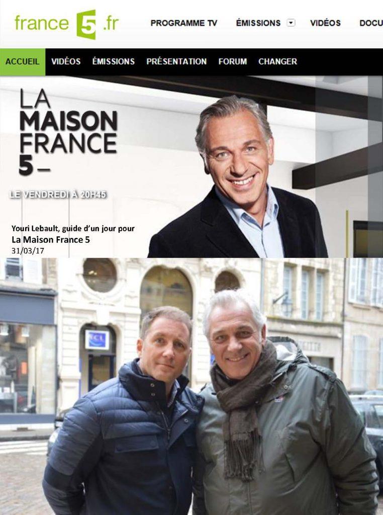 Bourgogne Gold tour dans l'émission La Maison France 5